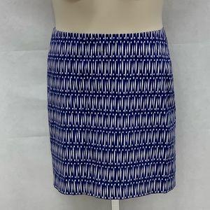 Ann Taylor Petite blue and white print skirt